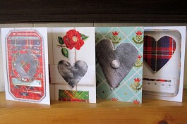 BUY: Seascape + Tartan Tin Heart Cards