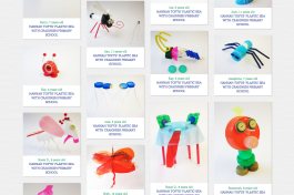 It's our world kids plastic artworks
