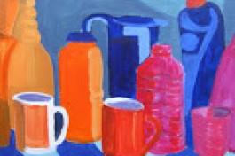 painting plastic bottles