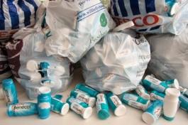 730 digestive plastic bottles!